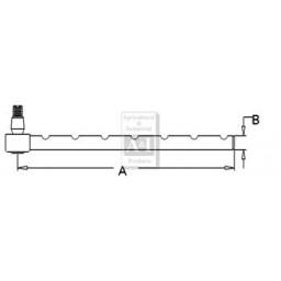 192866M1 - Tie Rod, Notched (LH)