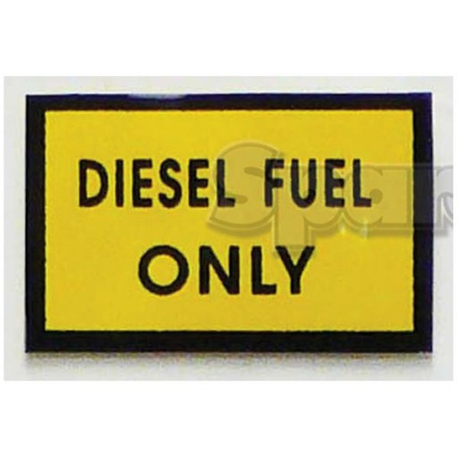 S.23125 Decal- Diesel Fuel Only