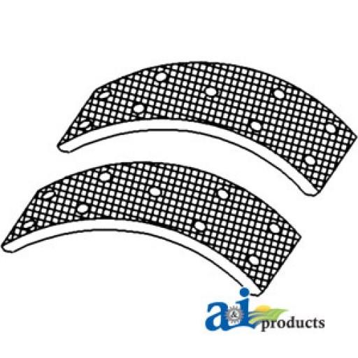 Brake Shoe Rivets : Brake shoe linings w rivets