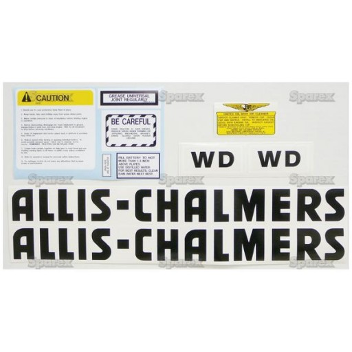 Allis Chalmers Decal Kits : S decal kit ac wd black