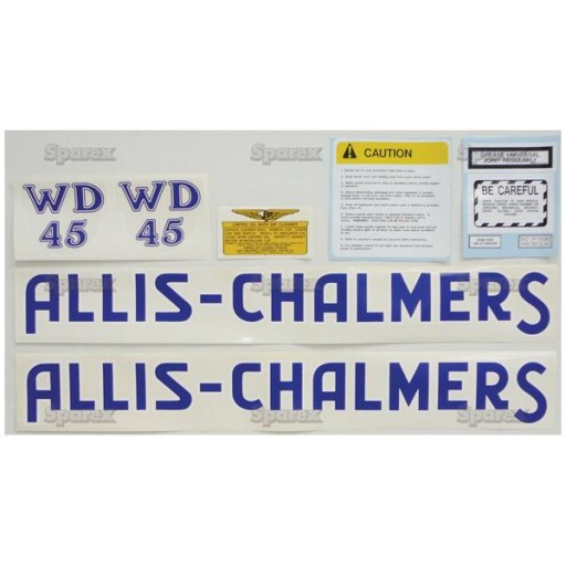 Allis Chalmers Decal Kits : S decal kit ac wd blue