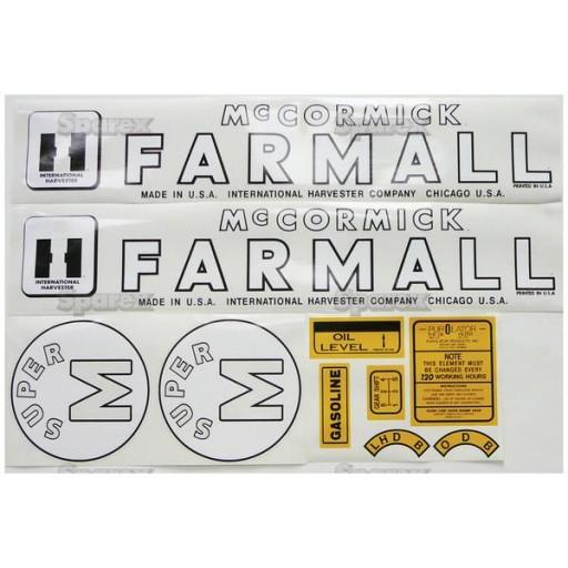 Farmall M Decal : S decal kit farmall super m