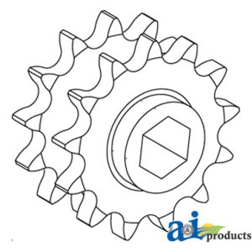 Ae74597 Sprocket Double Drive 13 13 Tooth