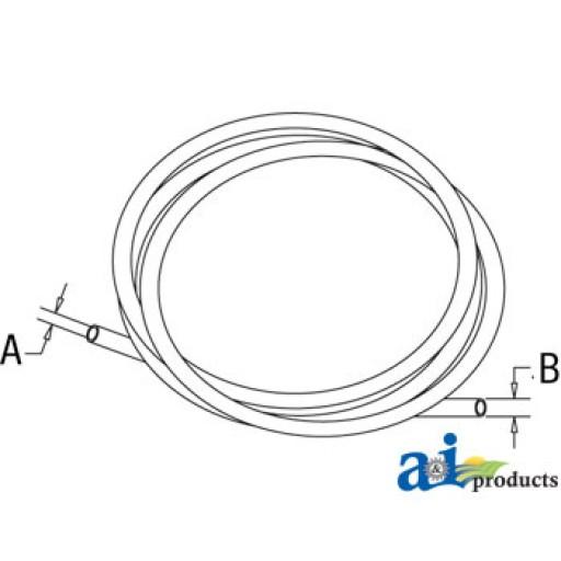 Hydraulic Tubing For Fuel : L hose fuel hydraulic quot id long