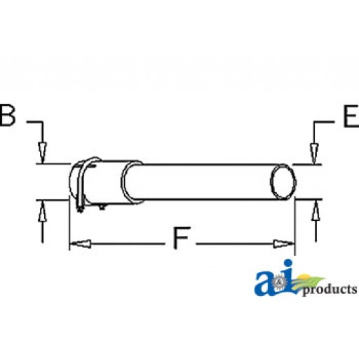 Tractor Exhaust Pipe Extension : Mm extension pipe