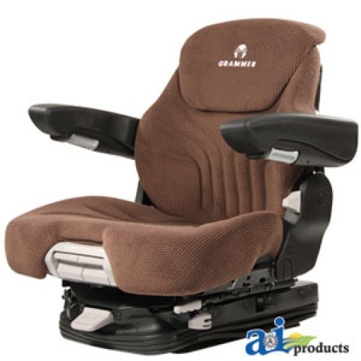 Cloth Tractor Seats : Msg bnc grammer seat assembly brown matrix cloth