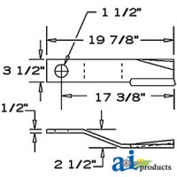 00753841 - Blade, Rotary Cutter, CW, Suction