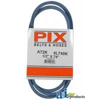 """A72K - Kevlar Blue V-Belt (1/2"""" X 74"""" )"""