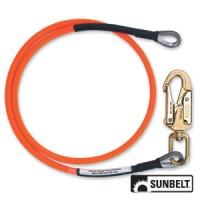 B1AB1306 - Flipline, Pelican Rope Works, Wire Core, 1/2 x 6