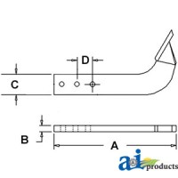 BSS2534C - Box Scraper Shank W/ Point